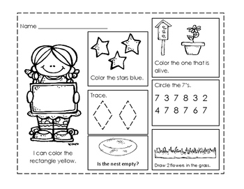 Preschool Work Pages