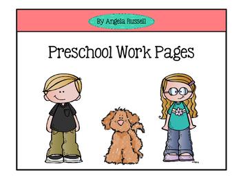 Preschool Work Pages
