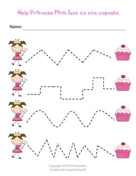 Preschool Worksheet Pack Princess Pink