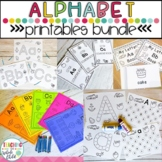 Preschool Worksheets: Alphabet activities bundle