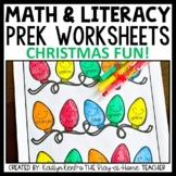 Christmas Preschool Worksheets December