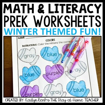Preschool Worksheets January