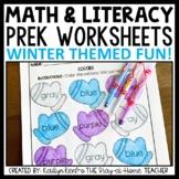 Winter Preschool Worksheet Packet January