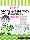 Preschool Worksheets - March