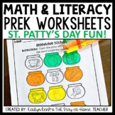 St. Patrick's Day Preschool Worksheet Packet March