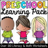 Preschool Worksheets - Math and Literacy Learning Packet -