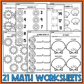 Summer Preschool Worksheets May