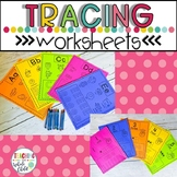 Preschool Alphabet Worksheets- Number and Letter Tracing W
