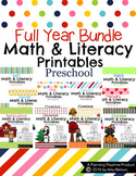 Preschool Worksheets - The Full Year Bundle