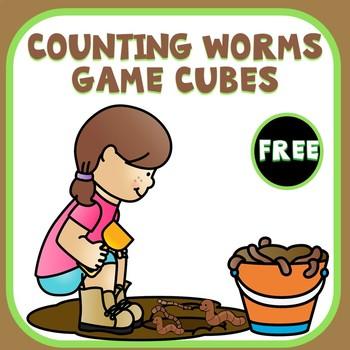 Preschool Worm Counting Cube Math Freebie
