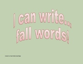 Preschool Write Fall