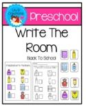 Preschool Write The Room - School Theme