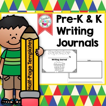 Half-Page Writing Journals for Grades PreK - Kindergarten