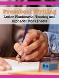 Preschool Writing Bundle (Letter flashcards, printables, a