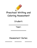 Preschool Writing and Coloring Assessment
