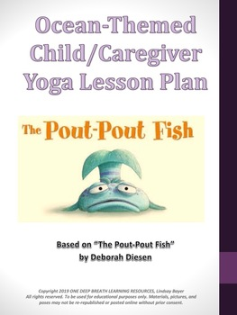 "Preschool and Caregiver Ocean Yoga Lesson based on ""The Pout-Pout Fish"""
