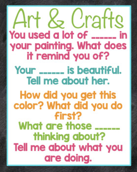 Preschool and Kinder Posters Open Ended Questions Chalk Theme {teacher posters}