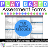 Preschool and Kindergarten Language Assessment Form for Speech Therapy