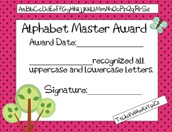 Preschool and Kindergarten Awards