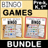 Preschool and Kindergarten Bingo Games - Beach and Transpo