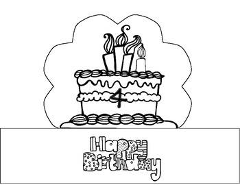 Preschool and Kindergarten Birthday Hats