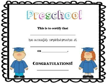 Preschool and Kindergarten Diploma