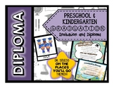 Diploma + Invitation for Preschool and Kindergarten Grads