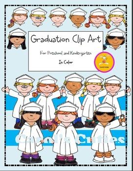 Preschool and Kindergarten Graduation Clip Art -In Color