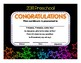 Preschool and Kindergarten Graduation Diploma - Neon Stars