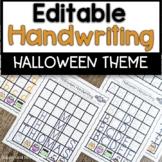Preschool and Kindergarten Halloween Handwriting Practice