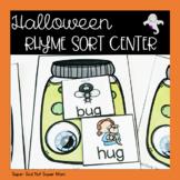 Preschool and Kindergarten Halloween Rhyming Sort Center