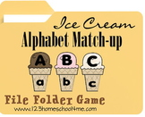 Preschool and Kindergarten Ice Cream Alphabet Match-up