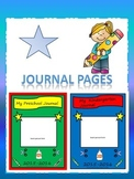 Preschool and Kindergarten Journal Pages Starters