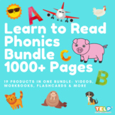Preschool and Kindergarten Learn to Read Program - Phonics Bundle (1000+ pages)