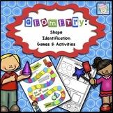 Math Centers Kindergarten 1st | Shape Games | 2D and 3D Shapes Kindergarten 1st