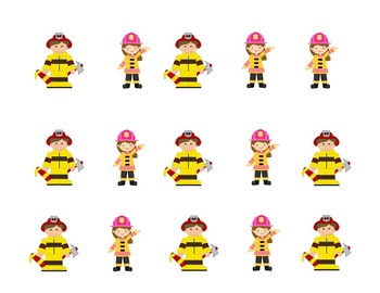 Preschool and Kindergarten Name Writing Practice: Fire Fighter Theme