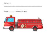 Preschool and Kindergarten Name Writing Practice: Fire Fig