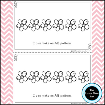 Preschool and Kindergarten Valentine's Day Math Patterning Activity