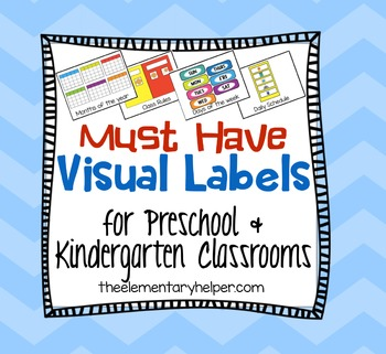 Preschool and Kindergarten Visual Labels