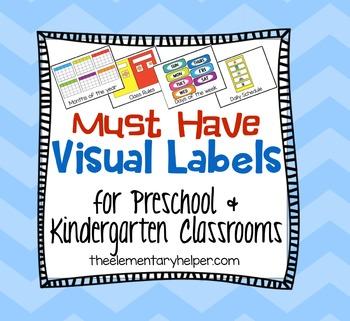 Preschool and Kindergarten Visual Labels