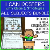 Preschool and Pre-K I Can Statement Posters Bundle