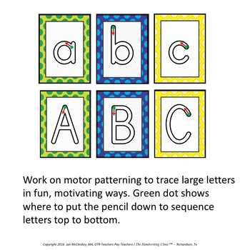 Preschool and Special Needs:  Large Alphabet Tracing Letters