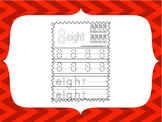 Preschool and daycare Trace the Number worksheets and flas
