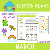 Preschool at Home Lesson Plans-March