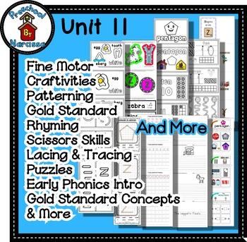 Preschool by Narcissa Pre-K Program - Unit 11  {PbN} - White Pentagon Z 10 & 11