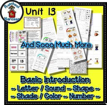 Preschool by Narcissa Pre-K Program- Unit 13 {PbN} - Heptagon H 13 Orange Shades
