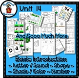 Preschool by Narcissa Pre-K Program- Unit 14 {PbN} - Octagon D 14 Green Shades