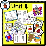 Preschool by Narcissa - Pre-K Program - Unit 4  {PbN} - B Red Square 3 & 4