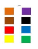 Preschool color assessment master sheet