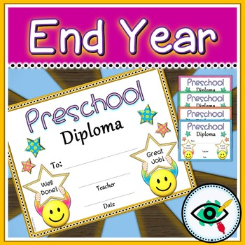 Preschool diploma for the end of year